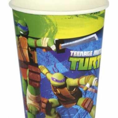 Turtles themafeest drinkbekertjes- feestje!