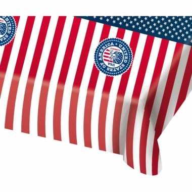 Usa/amerikaanse feest thema thema tafelkleed 130 x 180 cm- feestje!