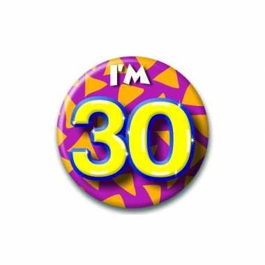 Verjaardags button i am 30 feest artikelen- feestje!