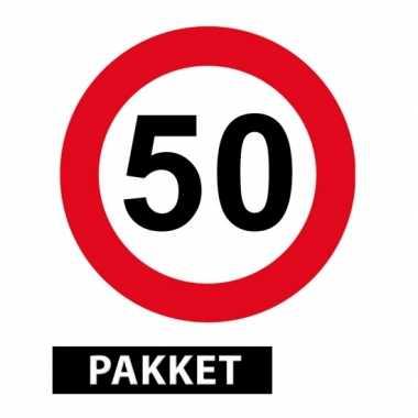 Versiering 50 jaar feestpakket- feestje!