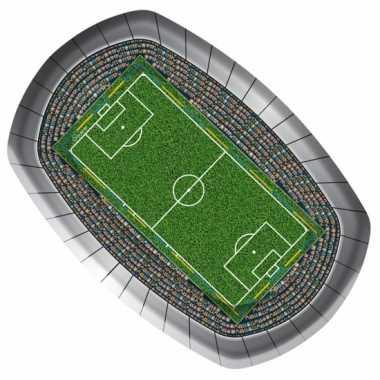 Voetbal feest borden 18 x 27 cm- feestje!