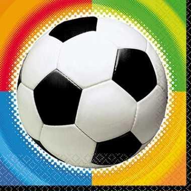 Voetbal feestje servetten 25 cm- feestje!