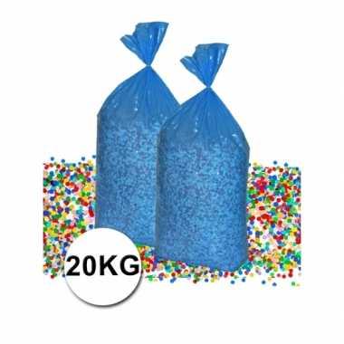 Voordeelverpakking gerecyclede feest confetti 20 kg- feestje!