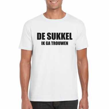 Vrijgezellenfeest de sukkel shirt wit heren- feestje!
