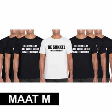 Vrijgezellenfeest heren t-shirt pakket de sukkel - maat mfeestje!