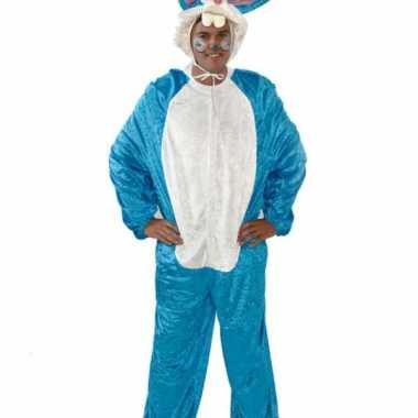 Vrijgezellenfeest kostuum blauw konijn- feestje!