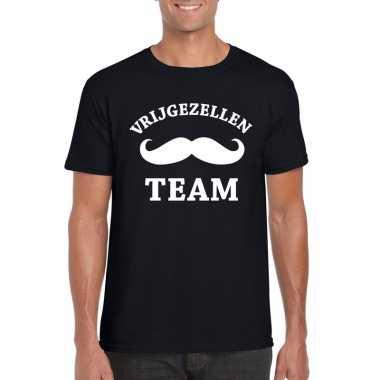 Vrijgezellenfeest team t-shirt zwart herenfeestje!