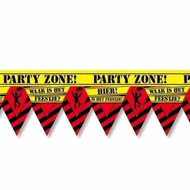 Waar is dat feestje party tape/markeerlint waarschuwing 12 m- feestje
