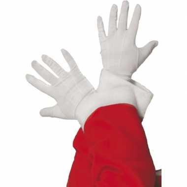 Witte feest handschoenen feestje 10163132