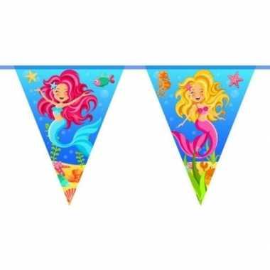 Zeemeermin themafeest vlaggenlijn 10 meter- feestje!