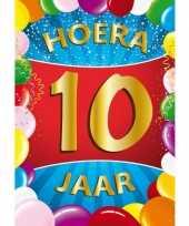 10 jaar mega deurposter 59 x 84 cm leeftijd verjaardag feestartikelen feestje