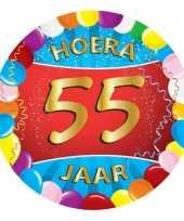 100x gekleurde bierviltjes 55 jaar feestartikelen feestje