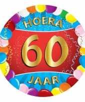 100x stuks gekleurde bierviltjes 60 jaar feestartikelen feestje