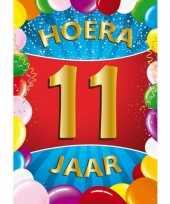 11 jaar mega deurposter 59 x 84 cm leeftijd verjaardag feestartikelen feestje