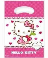 12x hello kitty themafeest feestzakjes 23 cm feestje