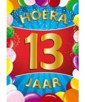 13 jaar mega deurposter 59 x 84 cm leeftijd verjaardag feestartikelen feestje