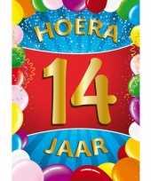 14 jaar mega deurposter 59 x 84 cm leeftijd verjaardag feestartikelen feestje
