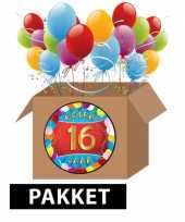 16 jarige feestversiering pakket feestje