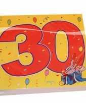 16x 30 jaar leeftijd themafeest servetten confetti 33 x 33 cm feestje