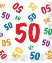 16x 50 jaar abraham leeftijd feest servetten 33 x 33 cm feestje