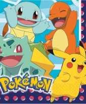 16x pokemon themafeest servetten 33 x 33 cm feestje