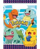 16x pokemon themafeest uitdeelzakjes 16 x 23 cm feestje