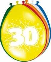 16x stuks feest ballonnen van 30 jaar feestje