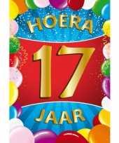 17 jaar mega deurposter 59 x 84 cm leeftijd verjaardag feestartikelen feestje