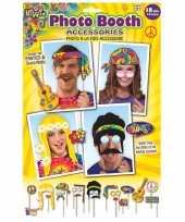 18x foto props hippie feestje