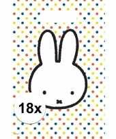 18x nijntje themafeest uitdeelzakjes snoepzakjes 30 x 21 cm feestje