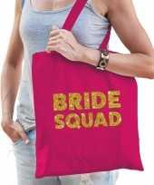 1x bride to be vrijgezellenfeest tasje roze goud goodiebag dames feestje