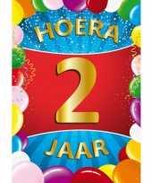 2 jaar mega deurposter 59 x 84 cm leeftijd verjaardag feestartikelen feestje