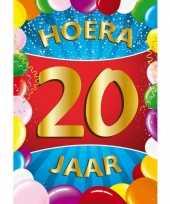 20 jaar mega deurposter 59 x 84 cm leeftijd verjaardag feestartikelen feestje