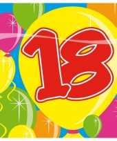 20x 18 jaar leeftijd themafeest servetten balloons 25 x 25 cm feestje