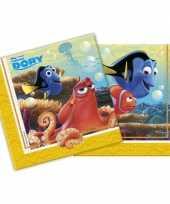 20x finding dory themafeest servetten 33 x 33 cm papier feestje