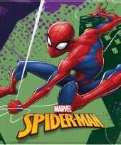 20x marvel spiderman themafeest servetten 33 x 33 cm feestje