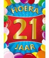 21 jaar mega deurposter 59 x 84 cm leeftijd verjaardag feestartikelen feestje