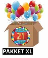 21 jarige feestversiering pakket xl feestje
