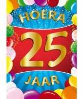 25 jaar mega deurposter 59 x 84 cm leeftijd verjaardag feestartikelen feestje