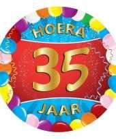 25x gekleurde bierviltjes 35 jaar feestartikelen feestje
