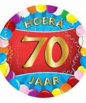 25x gekleurde bierviltjes 70 jaar feestartikelen feestje