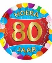 25x gekleurde bierviltjes 80 jaar feestartikelen feestje