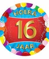 25x gekleurde onderzetters 16 jaar feestartikelen feestje