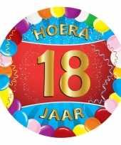 25x gekleurde onderzetters 18 jaar feestartikelen feestje