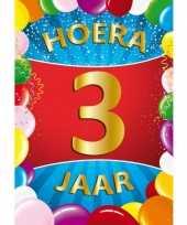 3 jaar mega deurposter 59 x 84 cm leeftijd verjaardag feestartikelen feestje