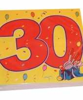 32x 30 jaar leeftijd themafeest servetten confetti 33 x 33 cm feestje