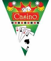 3x feestdecoratie vlaggenlijnen casino feestje