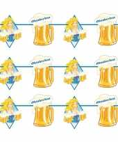 3x oktoberfest bierfeest slingers met blonde dame 10 m feestje