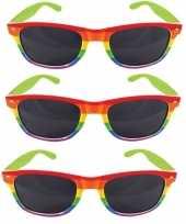 3x regenboog feest brillen voor volwassenen feestje