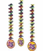 3x rotorspiralen 25 jaar versiering feestartikelen feestje